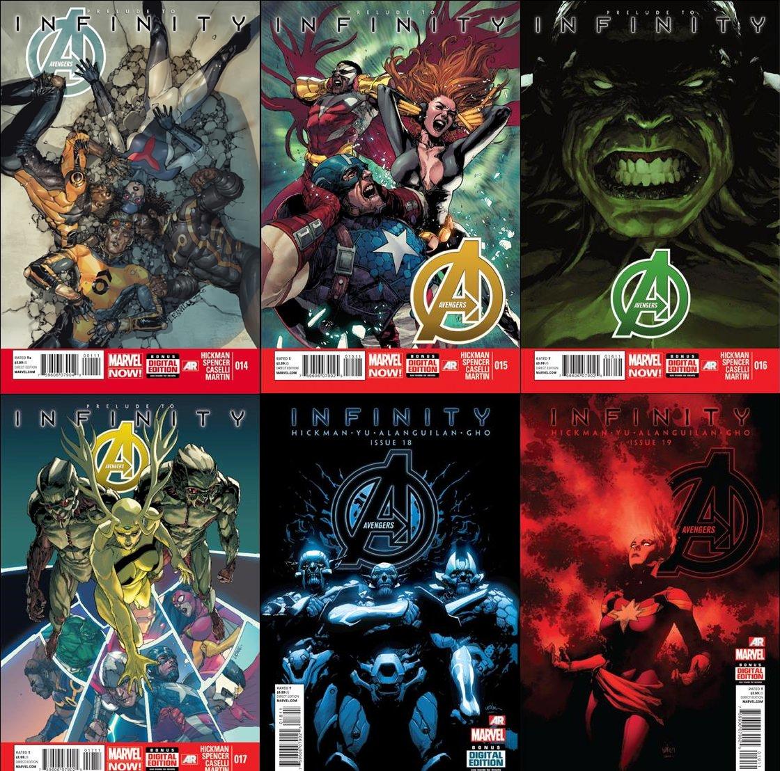 Avengers #14 15 16 17 18 19 20 21 22 23 Trade Set Infinity Storyline [2013] VF/NM Marvel Comics