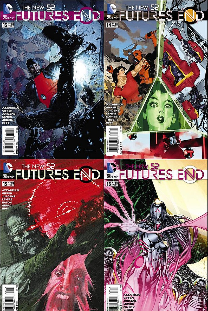 New 52 Future's End #13 14 15 16 Trade Set [2014] VF/NM DC Comics