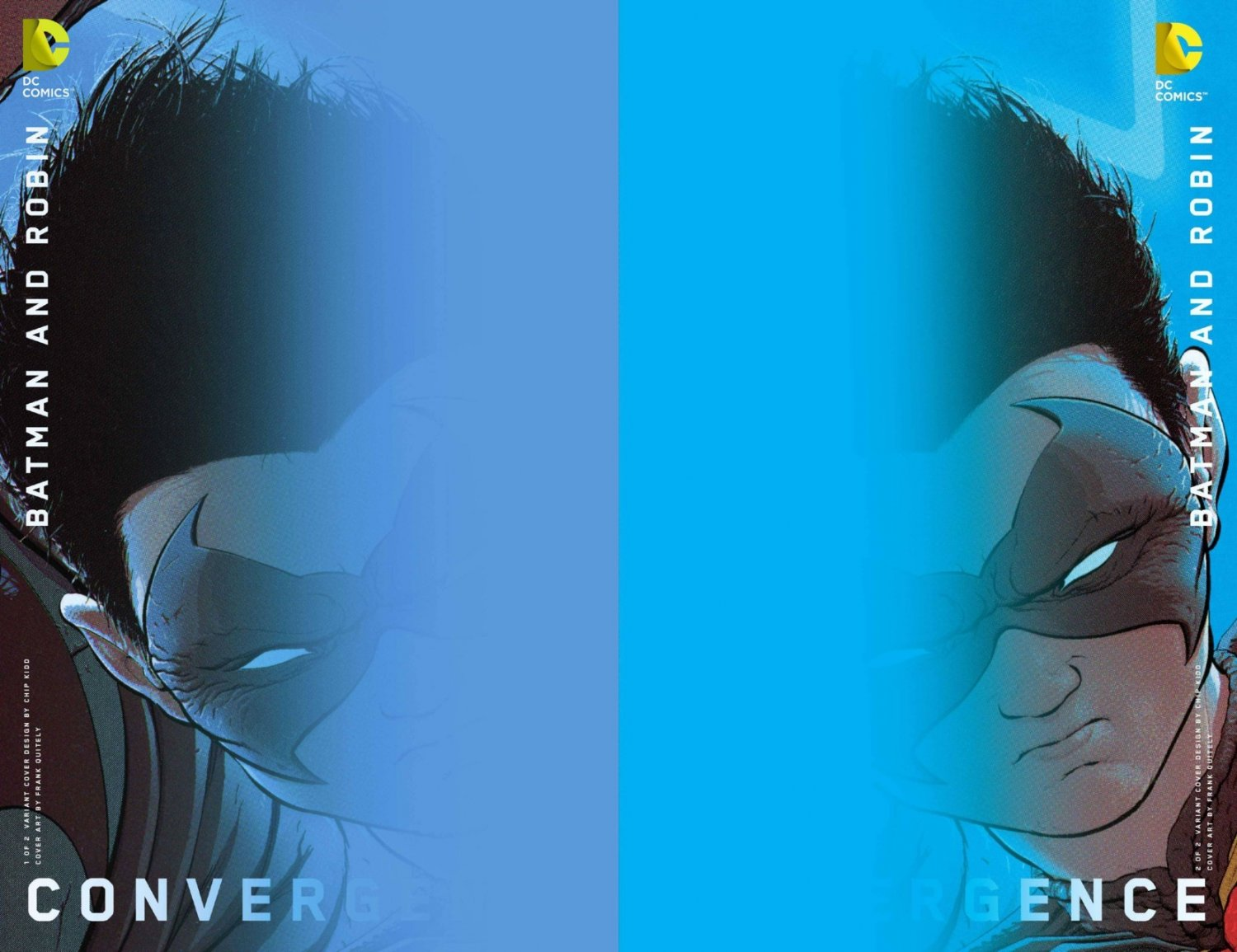 Convergence Batman and Robin #1 & 2 Chip Kidd Variants [2015] VF/NM DC Comics Trade Set