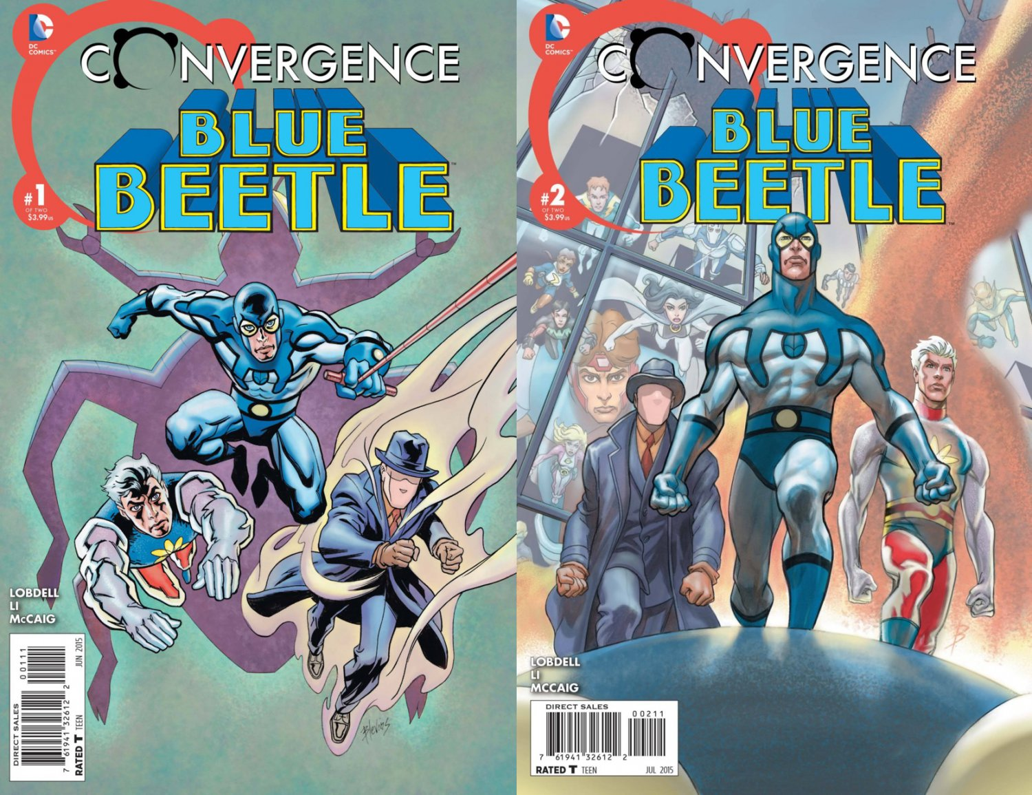 Convergence Blue Beetle #1 & 2 [2015] VF/NM DC Comics Trade Set