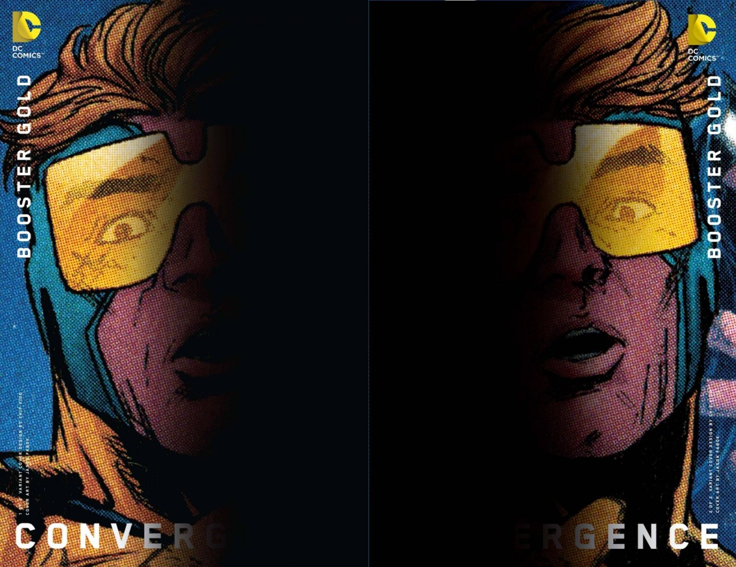 Convergence Booster Gold #1 & 2 Chip Kidd Variants [2015] VF/NM DC Comics Trade Set
