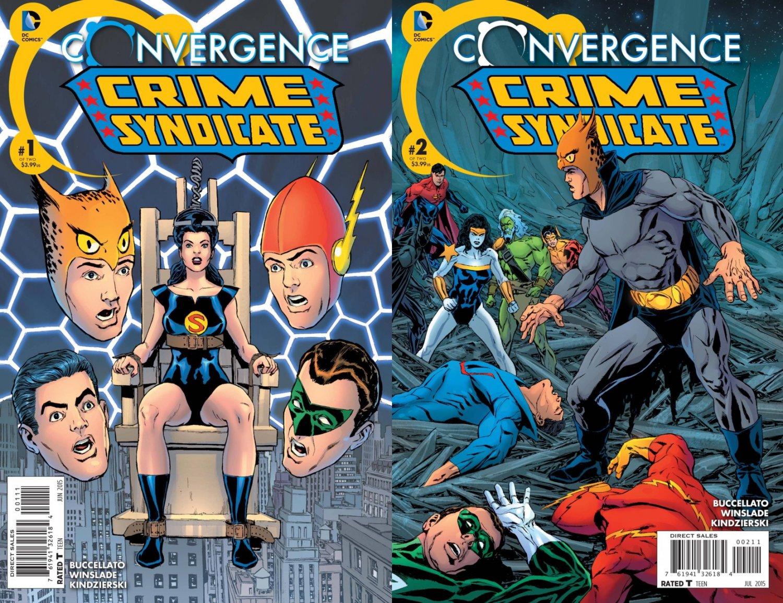 Convergence Crime Syndicate #1 & 2 [2015] VF/NM DC Comics Trade Set