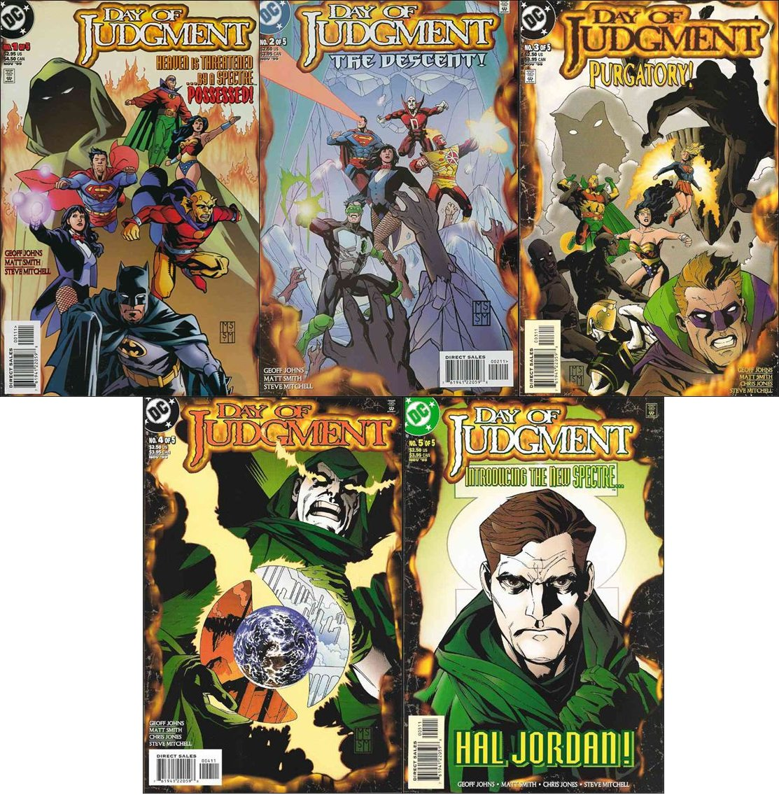 Day of Judgment #1 2 3 4 5 Complete Series [1999] 1st Appearance of New Spectre VF/NM DC Comics