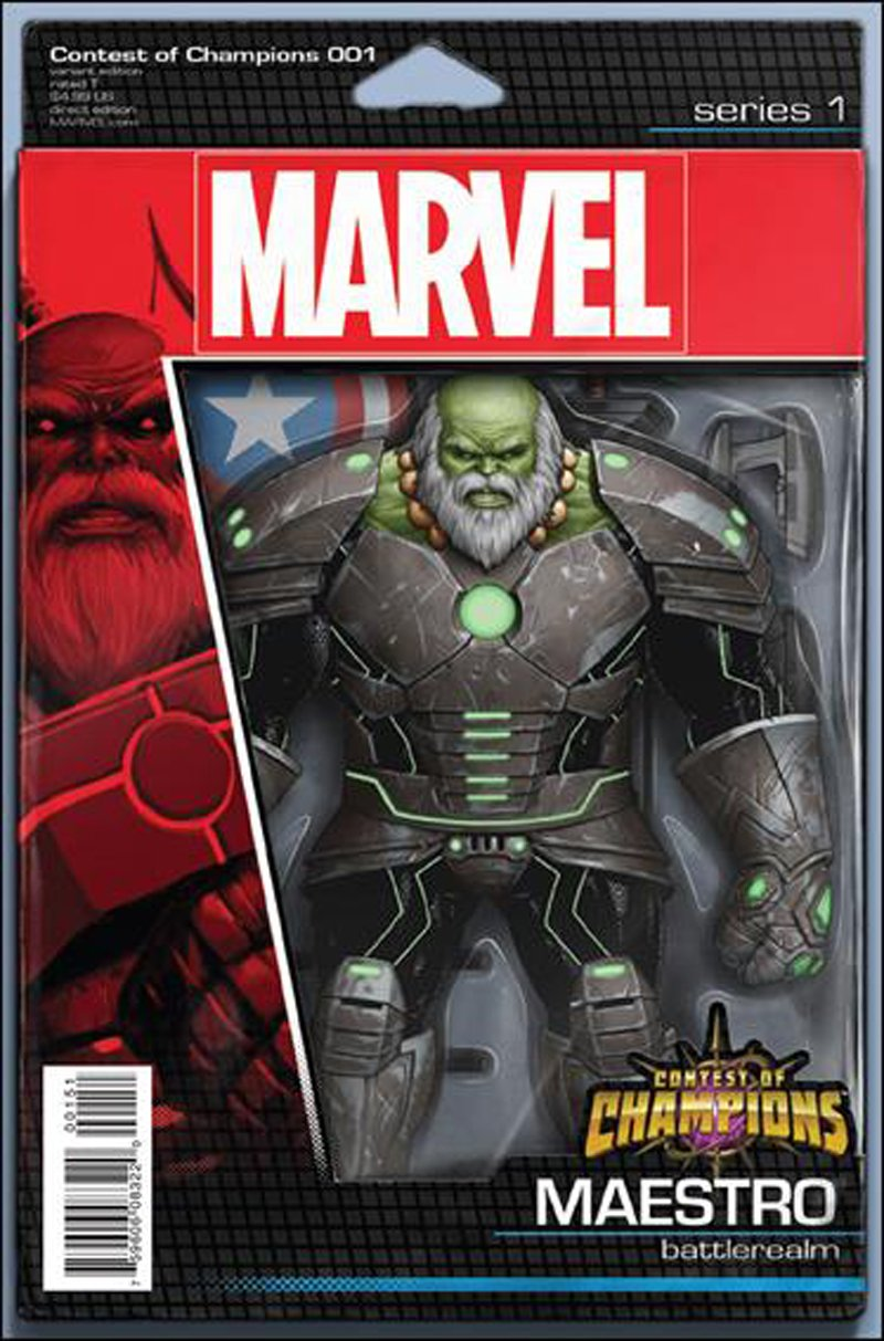 Contest of Champions #1 John Tyler Christopher Action Figure Variant [2015] VF/NM Marvel Comics
