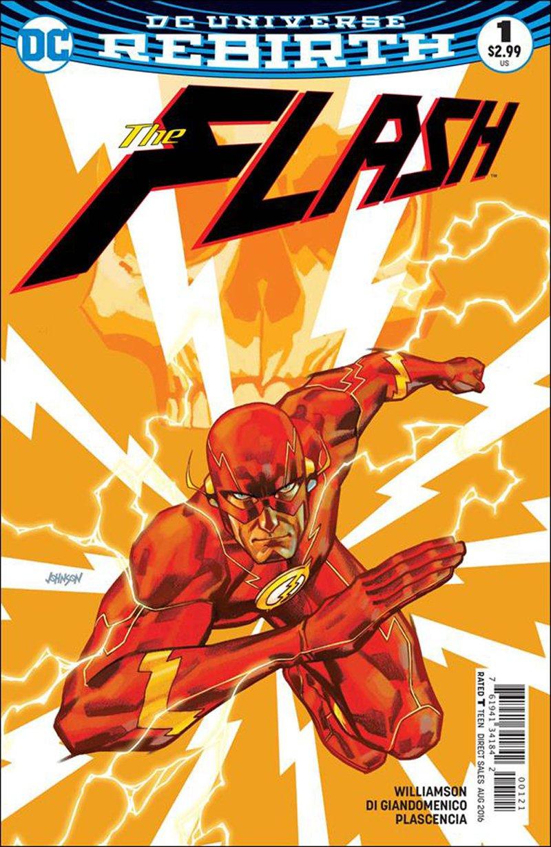 Flash #1 Dave Johnson Variant Cover [2016] VF/NM DC Comics
