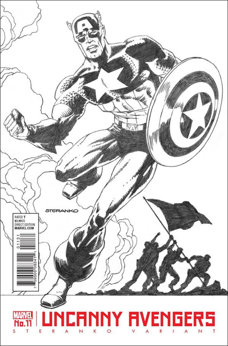 Uncanny Avengers #11 [2016] Jim Steranko Black & White Cover VF/NM Marvel Comics