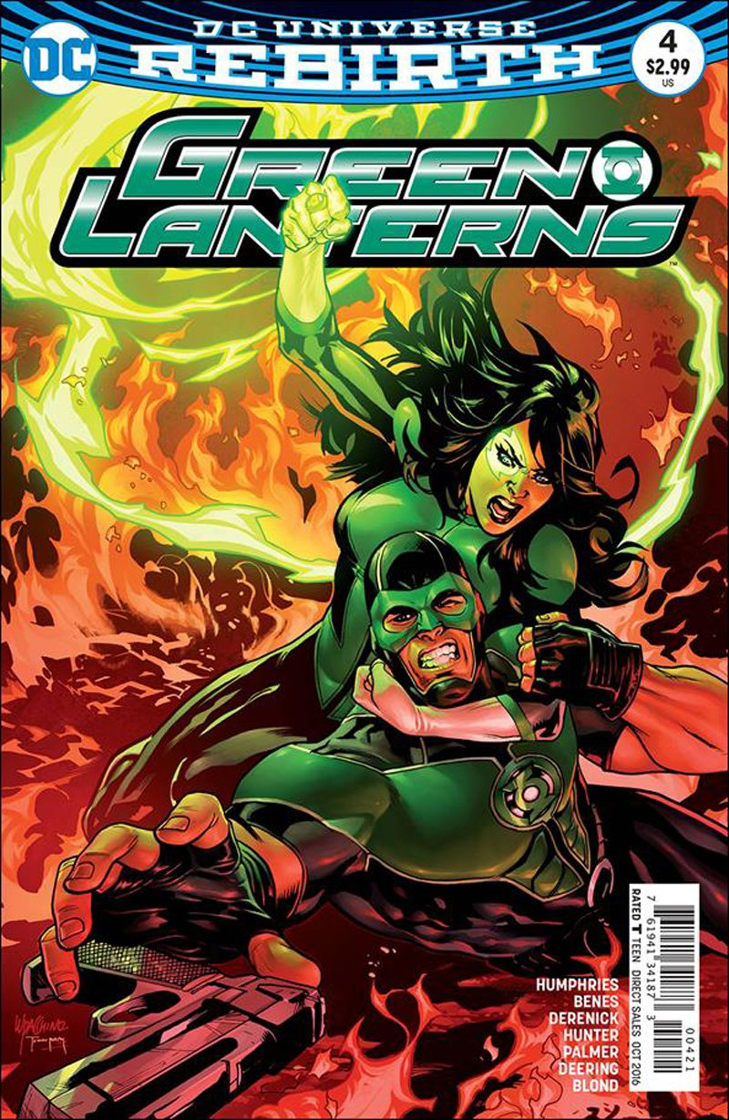 Green Lanterns #4 Emanuela Lupacchino Variant Cover [2016] VF/NM DC Comics
