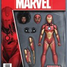 Invincible Iron Man #1 John Tyler Christopher Action Figure Variant Cover [2017] VF/NM Marvel Comics