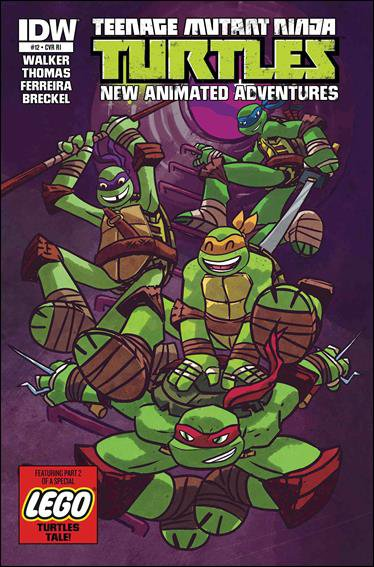 Teenage Mutant Ninja Turtles New Animated Adventures #12 1:10 Variant Cover [2014] VF/NM