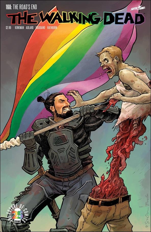 """Walking Dead #168 Sina Grace """"Pride Month"""" Variant Cover [2017] VF/NM Image Comics"""