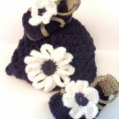 Babys Flower Hat and Sandals Crochet Pattern 0-3  month size