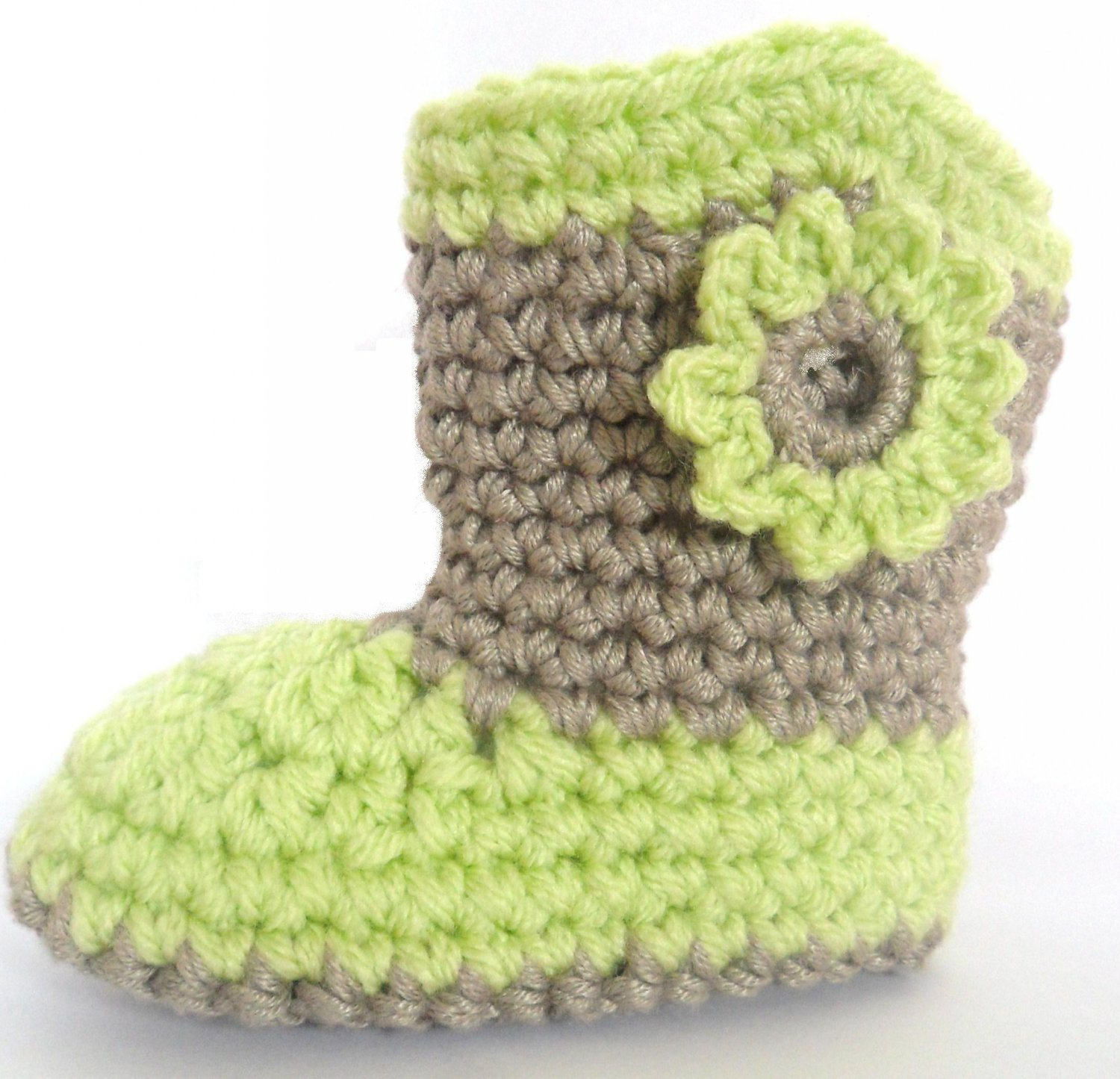 Unisex Baby Booties Free Crochet Pattern : VKNC119 Baby Boots Wooly Wellies Boy or Girl Crochet ...