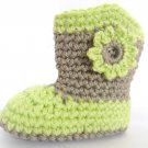 VKNC119 Baby Boots Wooly Wellies Boy or Girl Crochet Pattern unisex