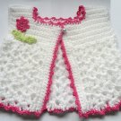 VKNC115 Baby Waistcoat Top with flower and leaves easy Crochet Pattern