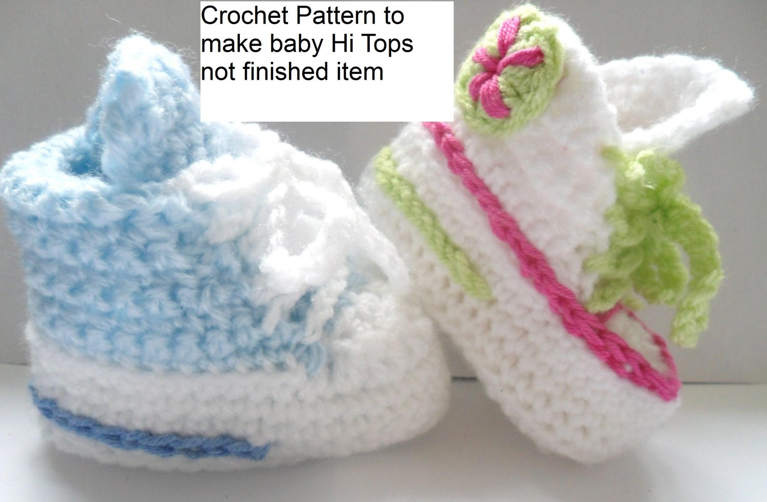 Free Crochet Pattern For Baby High Tops : VKNC116 Baby Boots High Tops conv Boy or Girl Crochet Pattern
