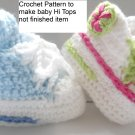 VKNC116 Baby Boots High Tops conv Boy or Girl Crochet Pattern