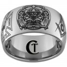 Tungsten Mens Ring 12mm Masonic Design Sizes 5-15