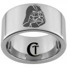 12mm Pipe Tungsten Carbide Laser Darth Vader Design Ring Sizes 5-15