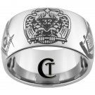 Tungsten Mens Ring 12mm Masonic 32nd Degree Past Master and Master Mason Design Sizes 5-15