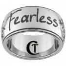 10mm Tungsten Ring Fearless and Scroll Work Design Ring Sizes 4-17