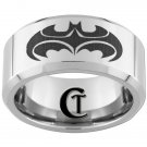 10mm Tungsten Carbide Batman And Robin Laser Design Ring Sizes 4-17