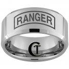 10mm Tungsten Carbide Legend of Ranger Laser Design Ring Sizes 4-17