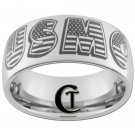 10mm Tungsten Carbide USMC Laser Design Ring Sizes 4 -17