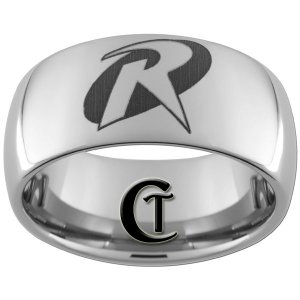 10mm Tungsten Carbide Robin Laser Design Ring Sizes 4-17