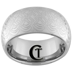 Tungsten Carbide Wedding Ring 10mm Celitic Pattern Design Sizes 4-17