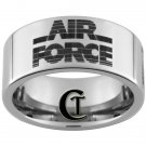 10mm Tungsten Carbide US Air Force Laser Design Ring Sizes 4-17
