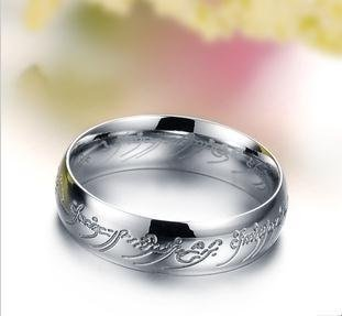 Choose size 7-12 Lord of the rings-titanium ring