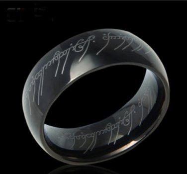 Deluxe LOTR Black Titanium Ring Width 8 MM