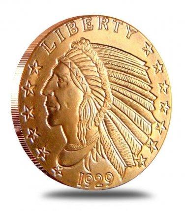 (1 OZ) *Incuse Indian* .999 Pure Copper Coin Bullion