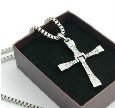 Fast and Furious Dominic Toretto's Cross Pendant Necklace Vin Diesel