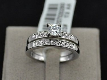 Gorgeous WGP with 0.5 CT AAA CZ Rings Set