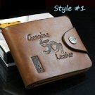 New Genuine Leather Stylish Mens Cowboy Bifold Wallet