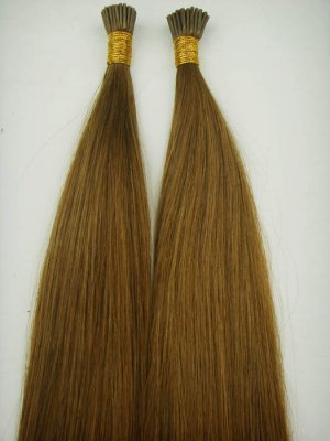 Stick I tip #8 Chestnut Brown 100 strands Remy human hair 50 grams