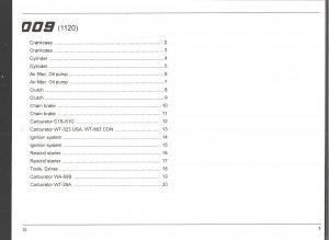 Chain Saw Parts List STIHL 009
