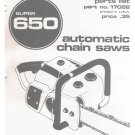 Chain Saw Parts List Homelite Super 650
