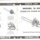 Chain Saw Parts List Homelite 5-20