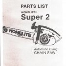 Chain Saw Parts List Homelite Super 2
