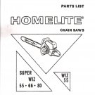 Chain Saw Parts List Homelite WIZ 55