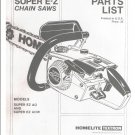 Chain Saw Parts List Homelite Super E-Z AO and EZ AOW