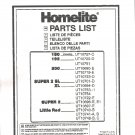 Chain Saw Parts List Homelite 180,192,200, Supr 2 XL,XL,Super 2,Little Red