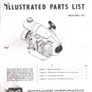 Kart Engine Parts List McCullouh MC-1