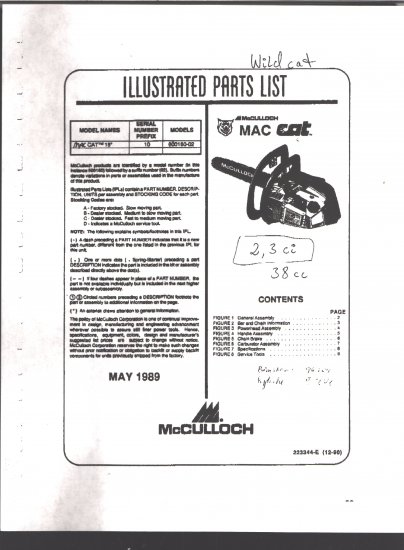 Most Design Ideas Mac 110 Chainsaw Parts List Pictures, And