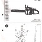 Chain Saw Parts List Mc Culloch , Mac 833, 835, 838