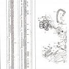 Chain Saw Parts List Mc Culloch , Mac 951, 955,961, Daytona 3000, 5000, 6000