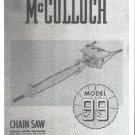 Chain Saw Parts List Mc Culloch , Model 99