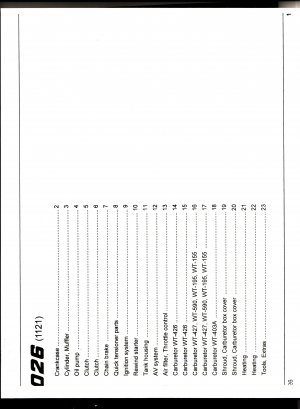 Chain Saw Parts List STIHL 026